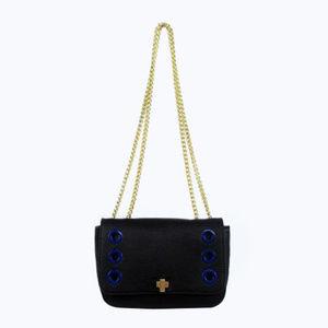 INC Concepts Black Leather Shoulder X-body Bag$60.